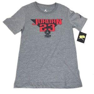 Nike Air Jordan Boys 23 T Shirt Gray Jumpman